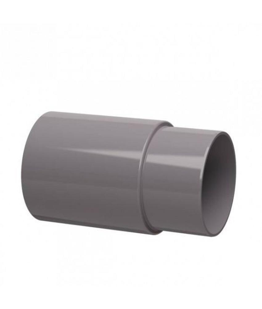 PVC HWA verlengde mof - 80 mm verjongd spie-eind
