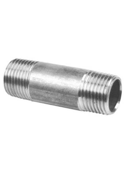 """RVS Pijpnippel 1"""" x 100 mm"""