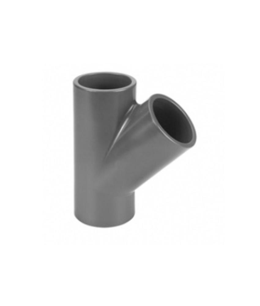 VDL PVC T-Stuk Ø 75 PN10, 45 graden