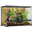 P6 Glazen terrarium incl. achterwand 90x45x60cm