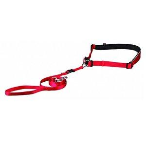 Trixie Looplijn met heupriem rood