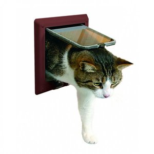 Trixie Kattenluik Deluxe voor dikke deuren bruin