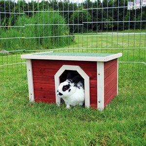 Trixie Konijnenhuis rood/wit 50x30x37cm