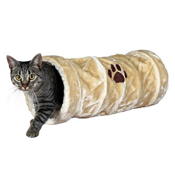 Kattenspeeltje Speeltunnel Pluche beige