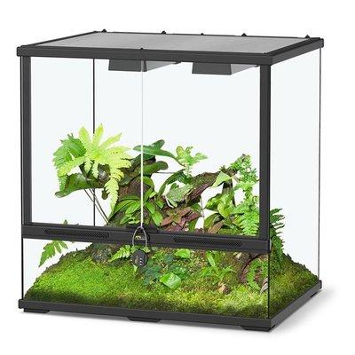 Aquatlantis Smart Line Terrarium zwart 60 x 45 x 60 cm