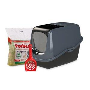 PeeWee Kattenbak Startpakket EcoHus antraciet