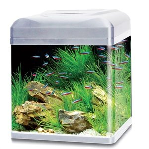 HS Aqua Aquarium Lago 30 LED zilver