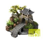 Aqua Della Aziatische Poortbrug met planten
