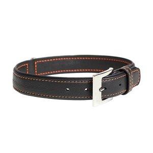 Duvo+ Trendy Leder Halsband Zwart
