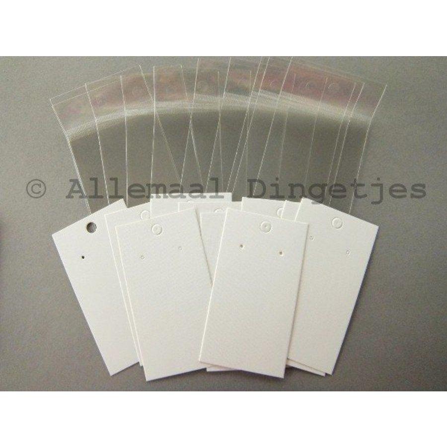 Display kaartjes wit karton tbv oorbellen 5x9cm (10 st)