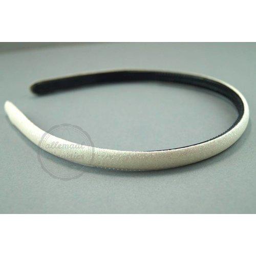 Diadeem haarband glitters gebroken wit 14mm (per stuk)