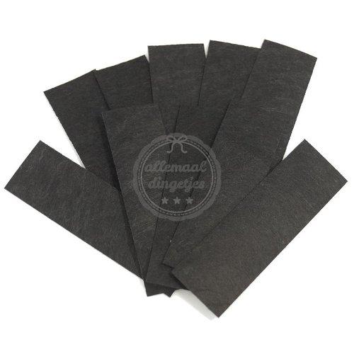 Vilt rechthoekjes zwart 23x80mm (10 st)