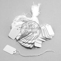 Sieraden prijskaartjes 13x23mm wit (100 st)