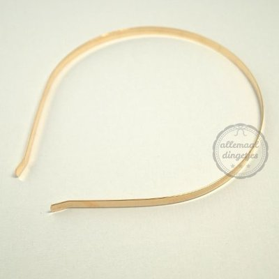 Diadeem haarband metaal goudkleurig 5mm