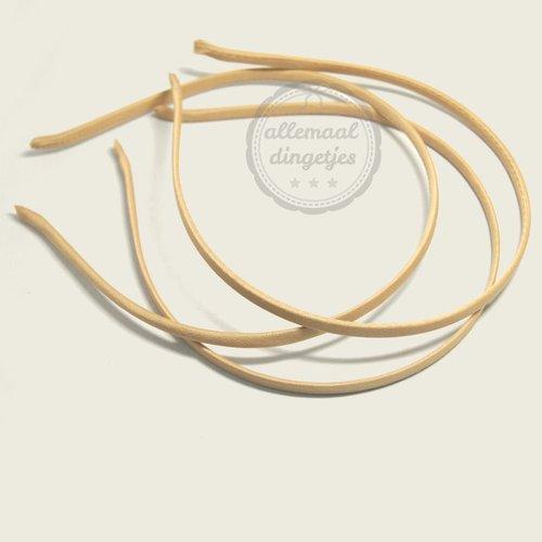 Diadeem satijn 5mm breed beige (per stuk)