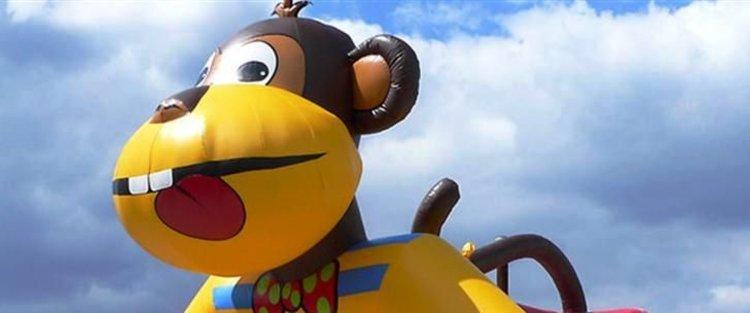 """Hüpfburg """"Affe"""" - ein tierisches Spielvergnügen"""