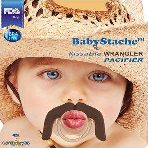 """Lil Baby G BabyStache® Speen """"cowboy"""" Bruin"""