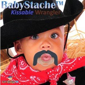 """Lil Baby G BabyStache® Speen """"cowboy"""" Zwart"""
