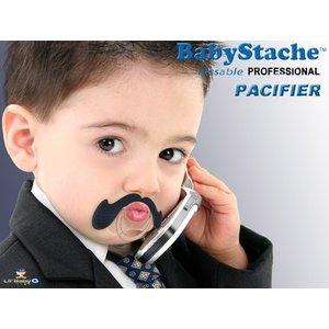"""Lil Baby G BabyStache® Speen """"zakenman"""" Zwart"""