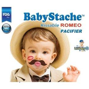 "Lil Baby G BabyStache® Speen ""romeo"" Bruin"