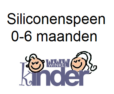 Siliconen spenen 0-6 maanden