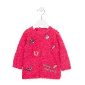 Losan Jersey jurk - Roze patches - 68 - 3M / 6M