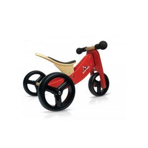 Kinderfeets 2 in 1 - Loopfiets - Rood - Tiny Tot