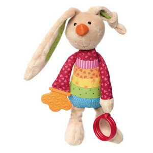 Sigikid Konijn Rainbow - Activity Knuffel - Play (25cm)