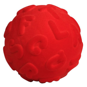 Rubbabu Alfabet bal rood (10cm)