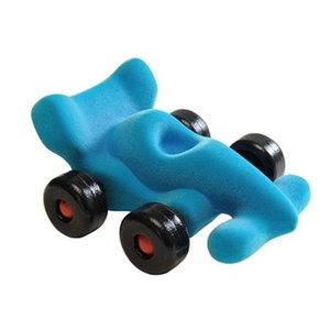 Rubbabu Lichtblauwe racewagen (14cm)