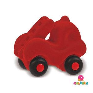 Rubbabu Micro brandweerwagen (9cm) Rood