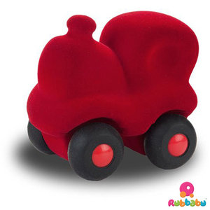 Rubbabu Micro trein (9cm) Rood