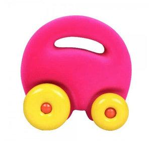 Rubbabu Mascot auto roze (12cm)