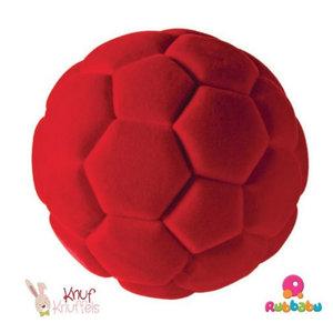 Rubbabu Sport bal - Voetbal - Rood (10cm)