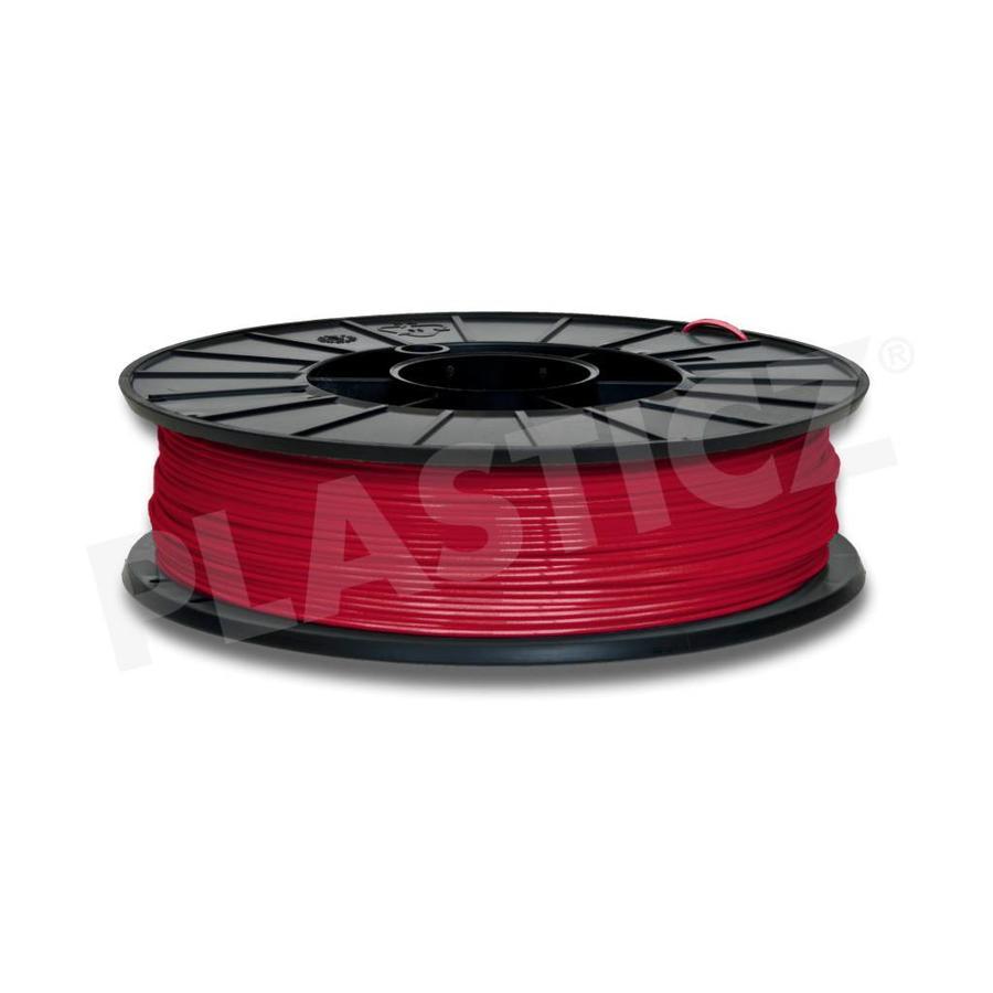 PLA Traffic Rood / Red: RAL 3020, 1.75 / 2.85 mm 1.000 grams (1 KG) Plasticz-1