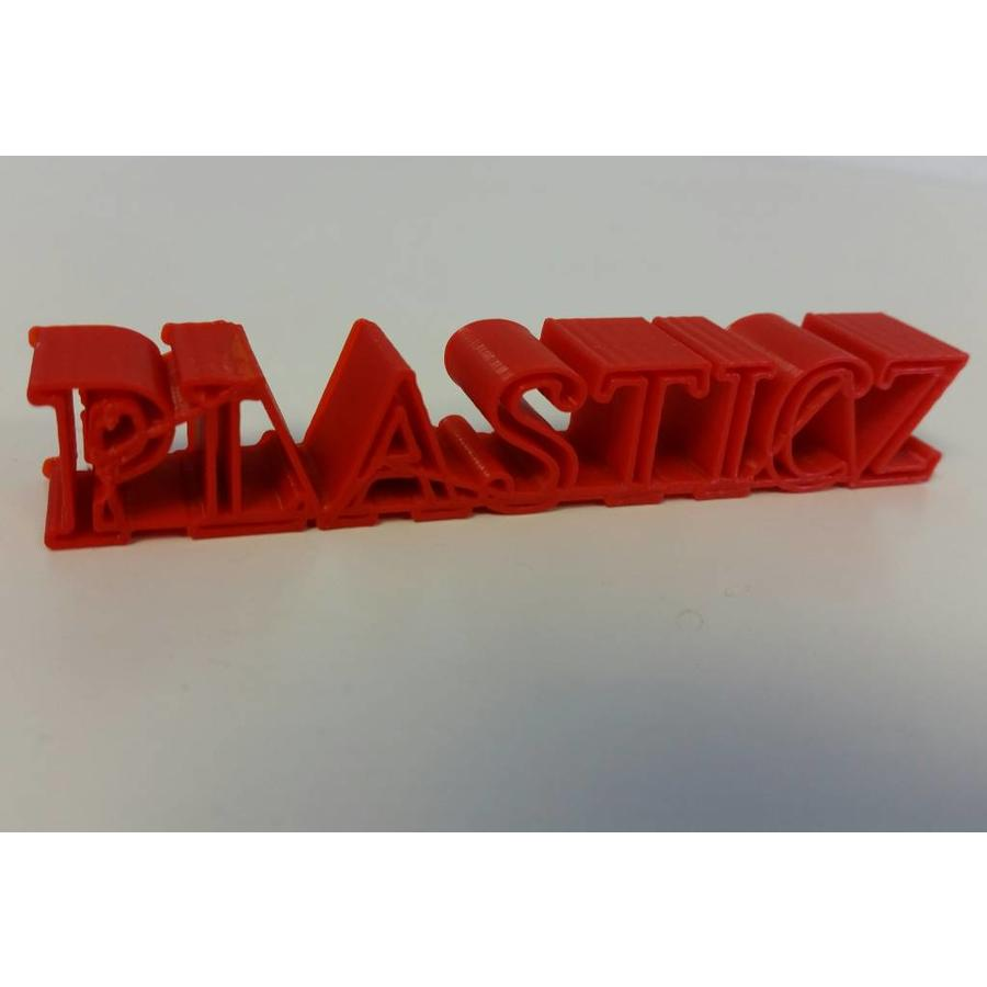 PLA Traffic Rood / Red: RAL 3020, 1.75 / 2.85 mm 1.000 grams (1 KG) Plasticz-2