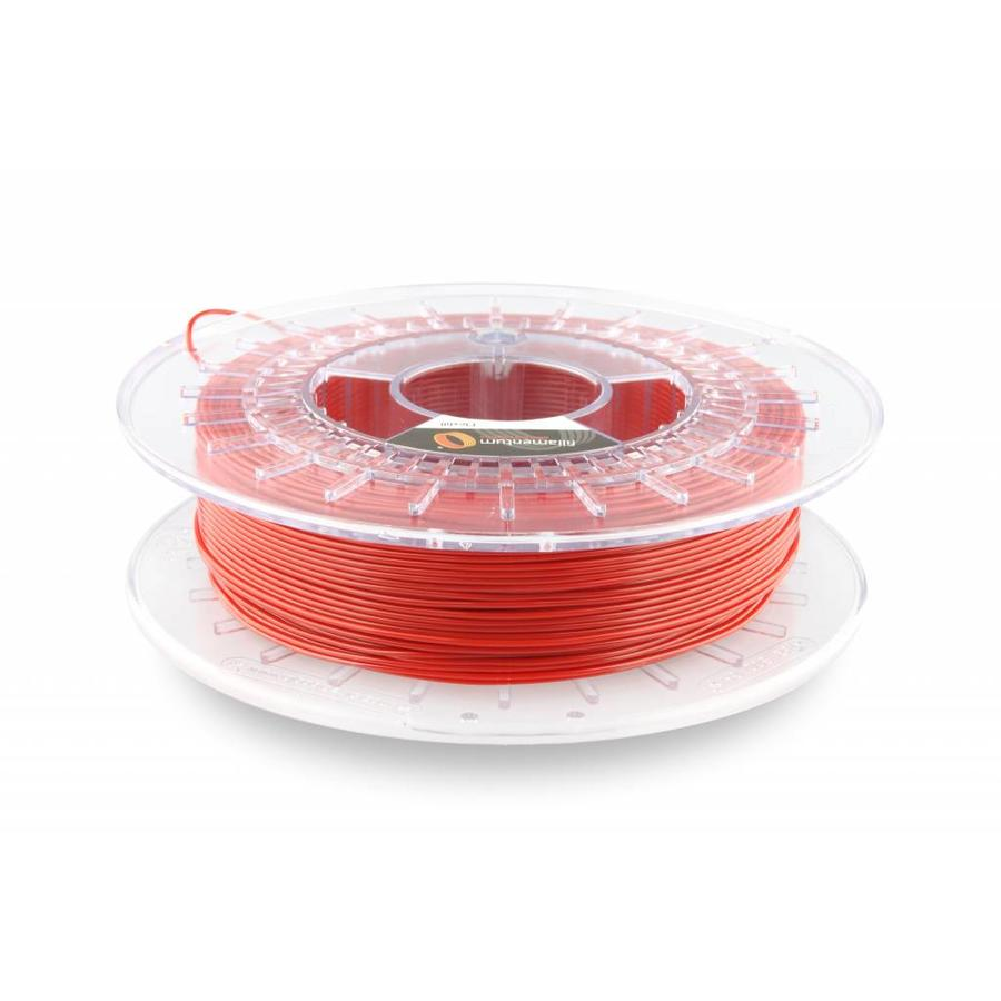 Flexfill 98A Signal Red RAL 3001: semi-flexibel 3D filament, 500 gram (0.5 KG)-1