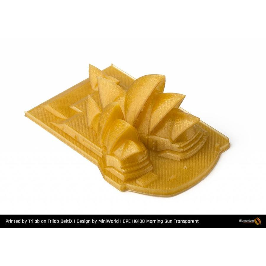 CPE (co-polyester) HG100 Gloss, Morning Sun, 1.75 / 2.85 mm, 750 gram (0.75 KG)-2