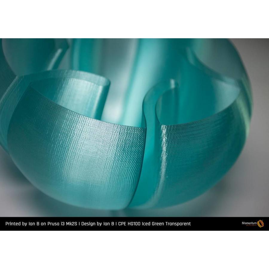 CPE (co-polyester) HG100 Gloss, Iced Green, 1.75 / 2.85 mm, 750 grams (0.75 KG)-2