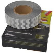 Rol 50 mtr reflecterende tape - wit - harde ondergrond