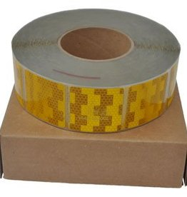 Avery Per mtr Reflecterende tape - Geel - zachte ondergrond ( bijv. Huifdoek )