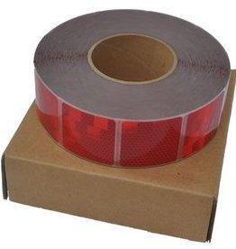 Avery Per mtr Reflecterende tape - Rood - zachte ondergrond ( bijv. Huifdoek )