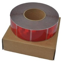 50 mtr Reflecterende tape - Rood - zachte ondergrond