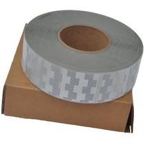 Reflecterende tape - Wit - zachte ondergrond ( bijv. Huifdoek ) - uitgedrukt_in_meters