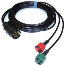 Radex 3,5 meter 7-polig 2 connectoren