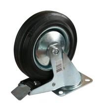 Zwenkwiel met rem (125mm)