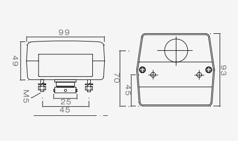 Aspock minipoint verlichtingsset met 7 meter hoofdkabel technische tekening
