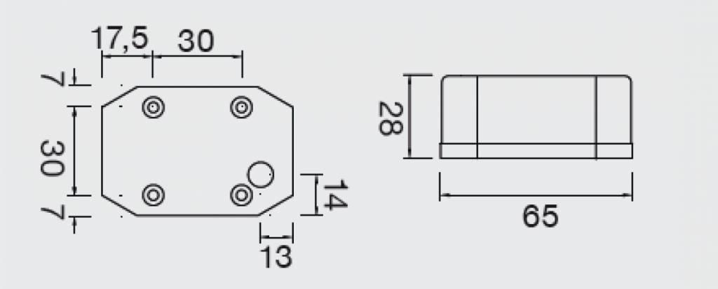 Aspock Flexipoint - oranje/gele markeringslamp - losse draad aansluiting - gloeilamp - 21-6511-007 technische tekening
