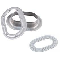 Ovale bevestiging voor tourniquet met kunststof ring