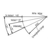 KNOTT Ongeremde torsie as - padmaat 1200mm - flensmaat 1650mm -750kg 5x112